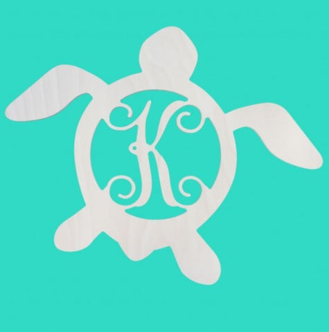 18 in. Turtle Wood Monogram