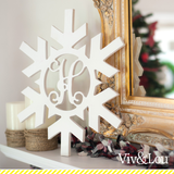 18 in. Snowflake Wood Monogram