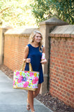 Floral Cabana Tote