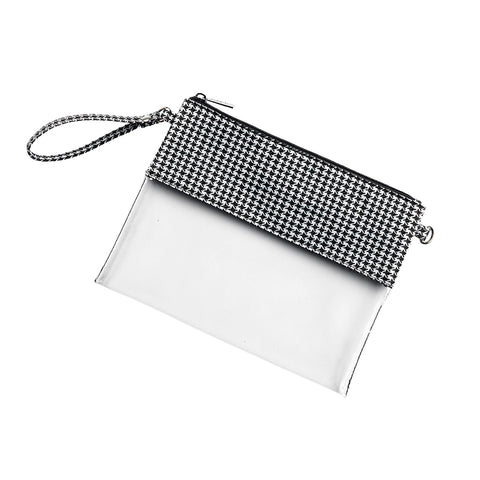 Houndstooth Clear Purse