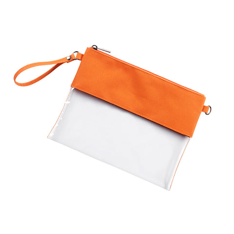Orange Clear Purse