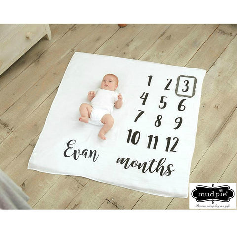 Mud Pie Milestone Blanket