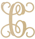Single Initial Wood Monogram