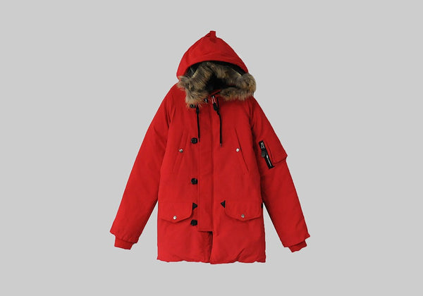 RACCOON FUR HOODED DOWN PADDING JACKET
