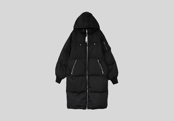 BOXYFIT RICH DUCK DOWN FILLED LONGLINE PADDING JACKET