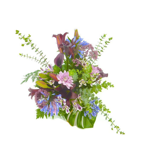 Shades of Purple Hand Tied Seasonal Bouquet