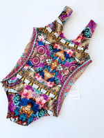 Mystic Jungle Hand-Beaded Colombian One-Piece Swimsuit