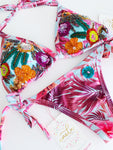 Blooming Floral Beaded Colombian Bikini Set