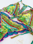 Green Paradise Malu Beaded Colombian Bikini Set