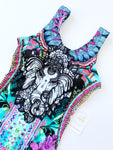 Elephant Hand-Beaded Colombian One-Piece Swimsuit