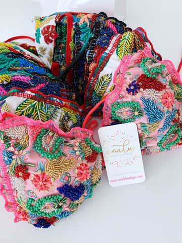 New Mix & Match Colombian Beaded Bikini Tops