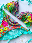 Paraiso Floral Beaded Colombian Bikini Set