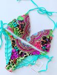 Mariposa Floral Colombian Beaded Bikini Set