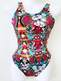 Parrot Jungle Hand-Beaded Colombian One-Piece Swimsuit