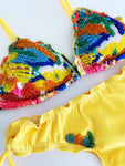 Yellow Bliss Beaded Colombian Bikini Set