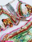 Malu Tiger Beaded Colombian Bikini Set