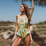 Peafowl Bird One-Piece Swimsuit
