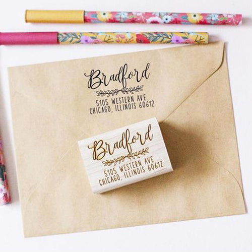 Custom Calligraph Address Stamp