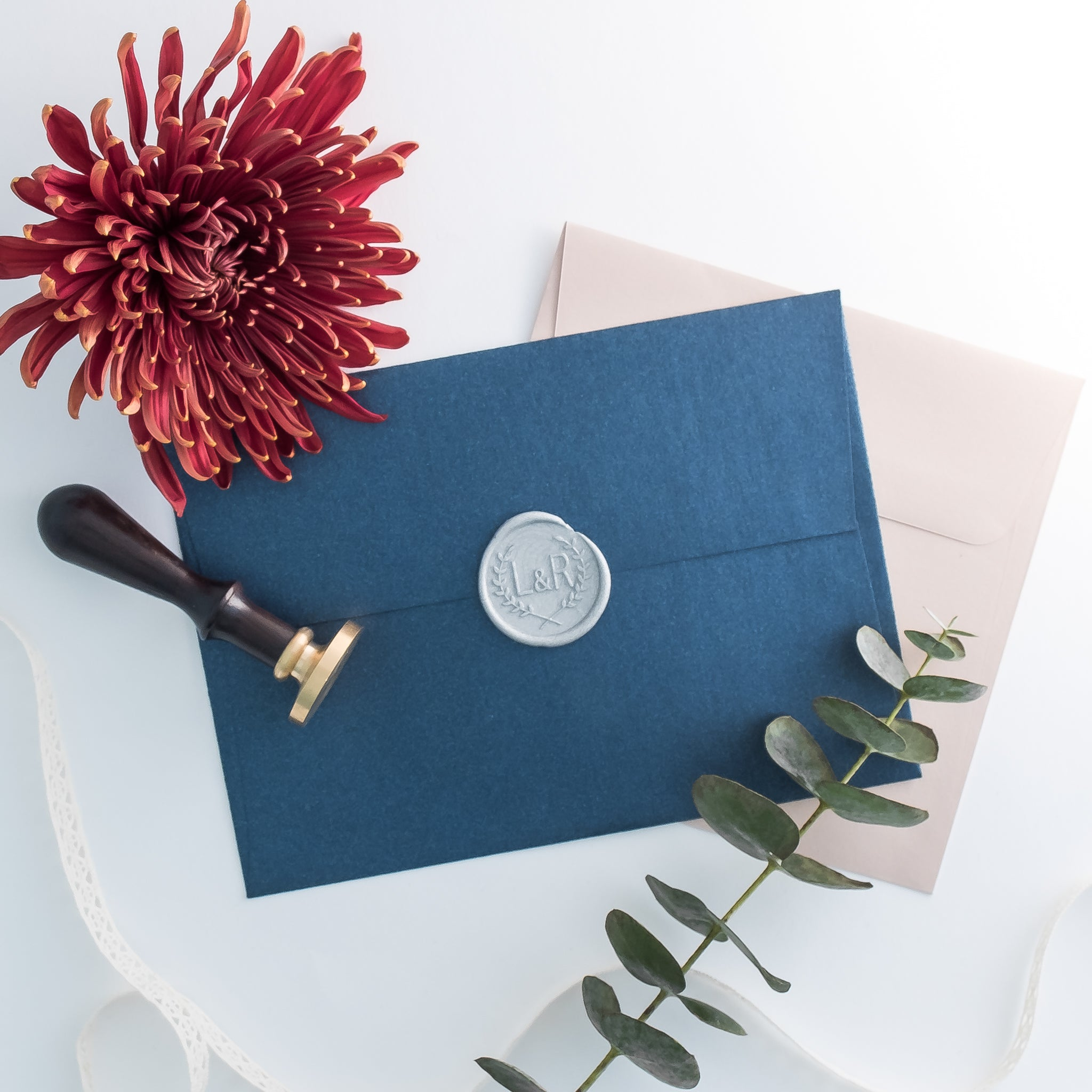 Custom Laurel Wreath - Initials Wax Seal