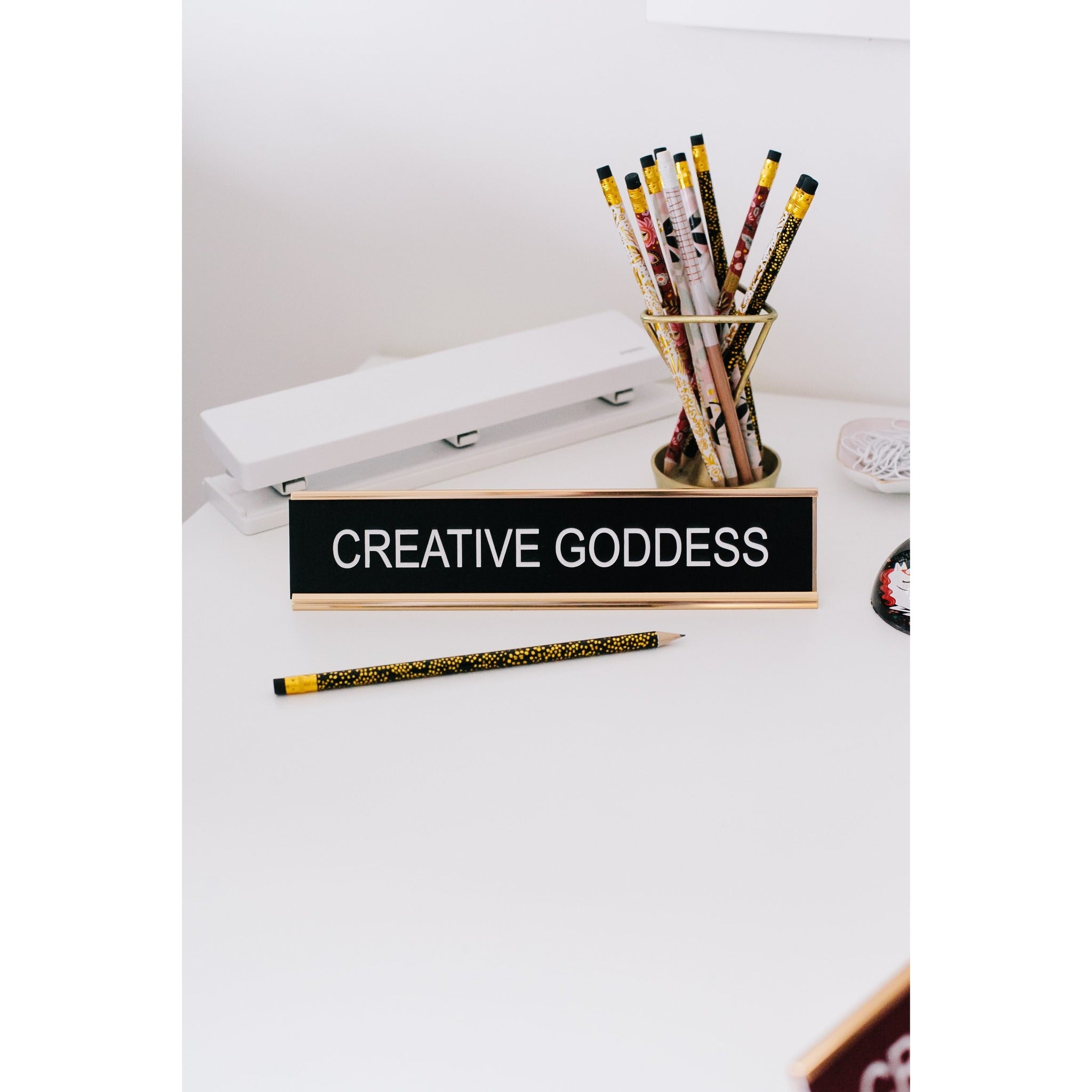 Creative Goddess Funny Desk Sign