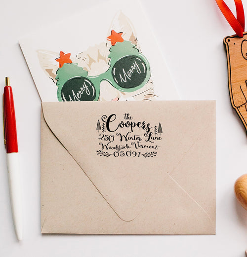 Christmas Return Address Stamp