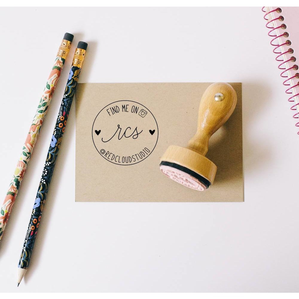 Social Media Seller Rubber Stamp