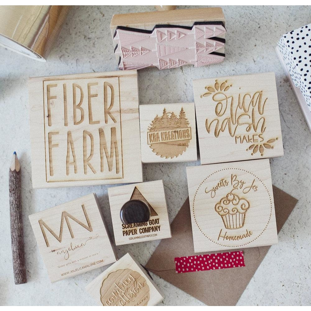 Business & Shop Logo Rubber Stamp - Your Logo or Artwork