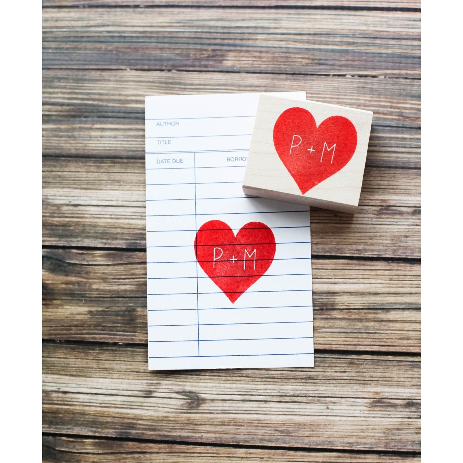 Custom Heart Stamp with Initials
