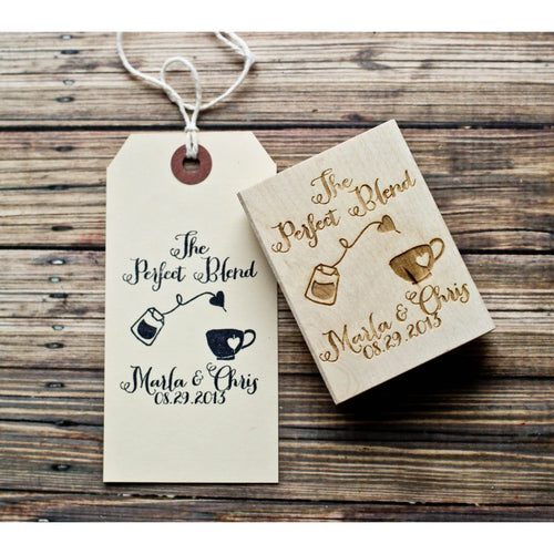 The Perfect Blend Wedding Favor Rubber Stamp