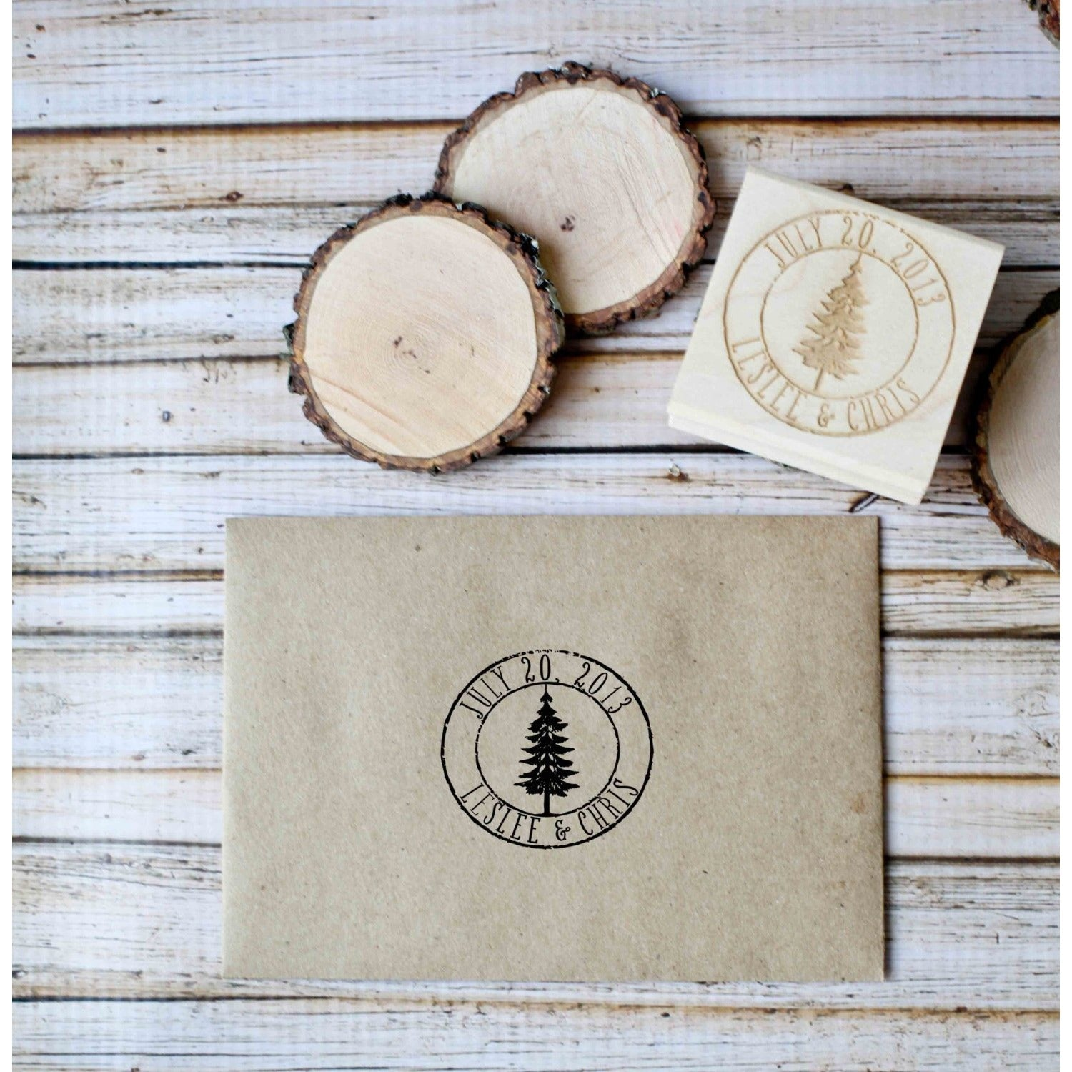 Personalized Wedding Favor RubberStamp