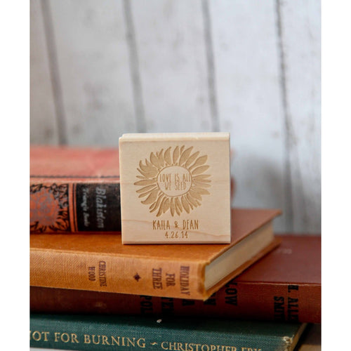 Sunflower Seed Favor Rubber Stamp - Love is All We Seed