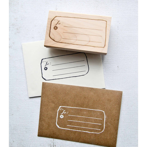 Gift Tag Rubber Stamp