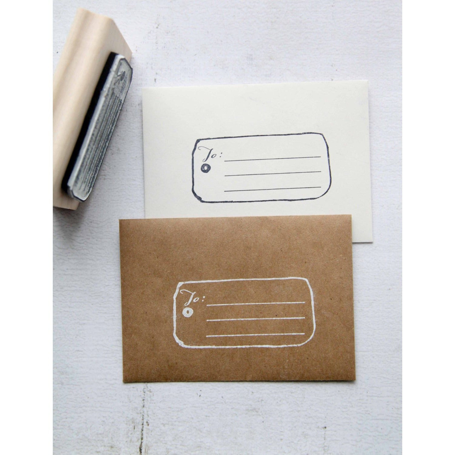 Christmas Rubber Stamp, Gift Tag Rubber Stamp, Address Rubber Stamp