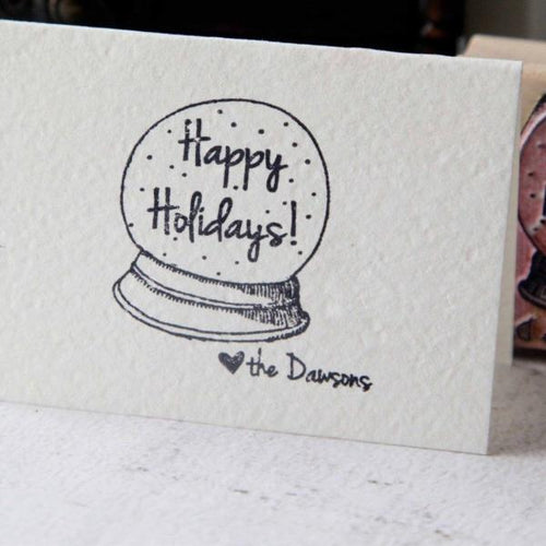 Custom Christmas Happy Holidays Stamp