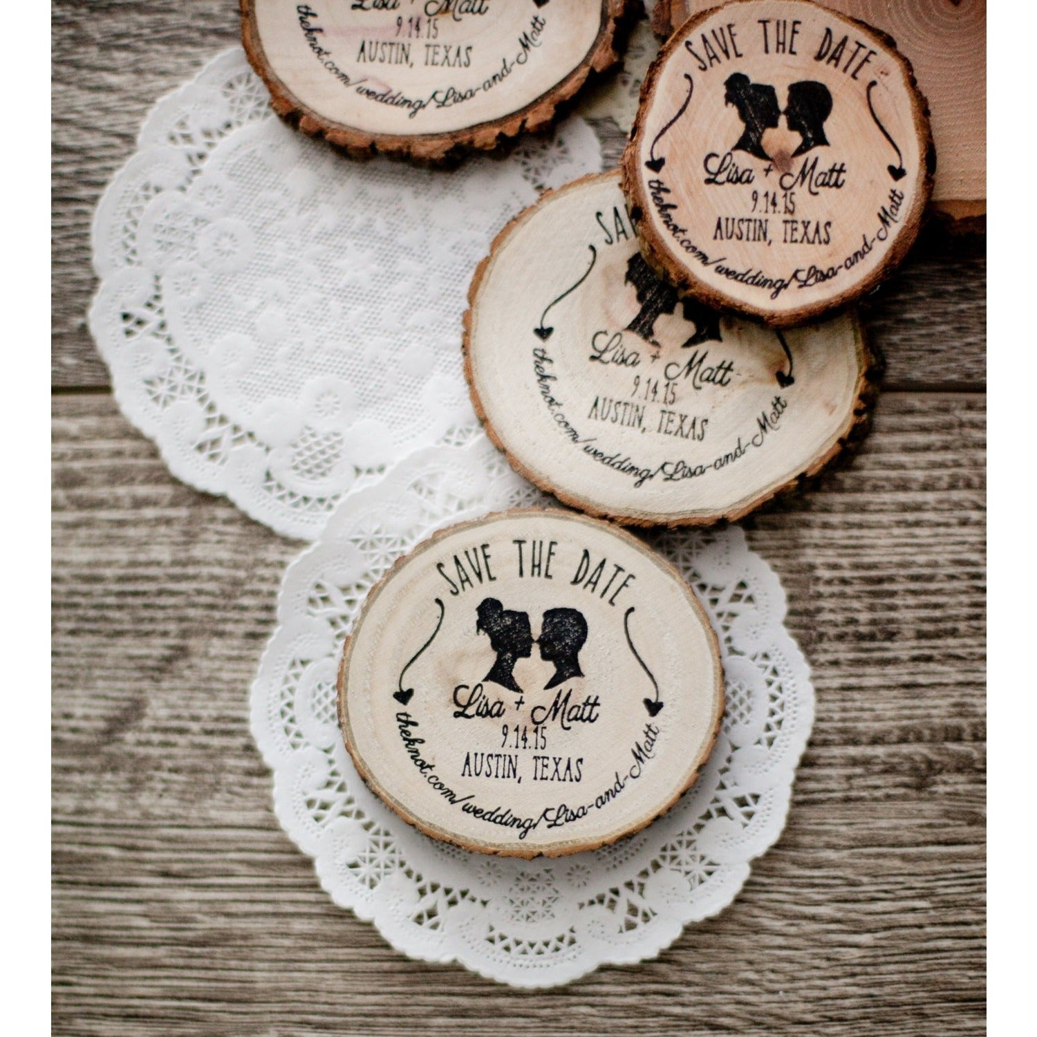 Save the Date Wedding Invitation Stamp