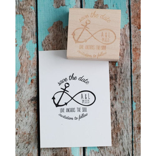 Save the Date Stamp Beach Wedding Stamp,