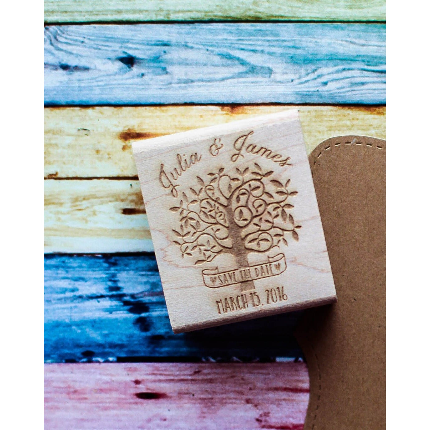 Save the Date Wedding Rubber Stamp