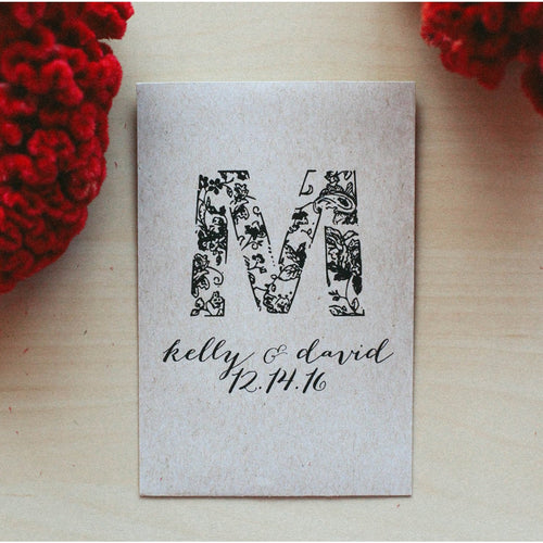 Personalized Wedding Rubber Stamp