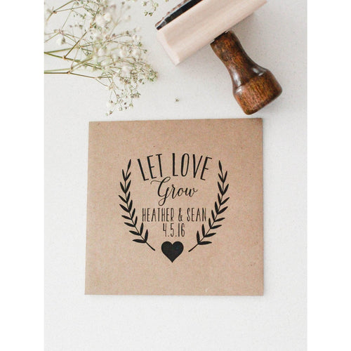 Custom Wedding Favor Seed Stamp