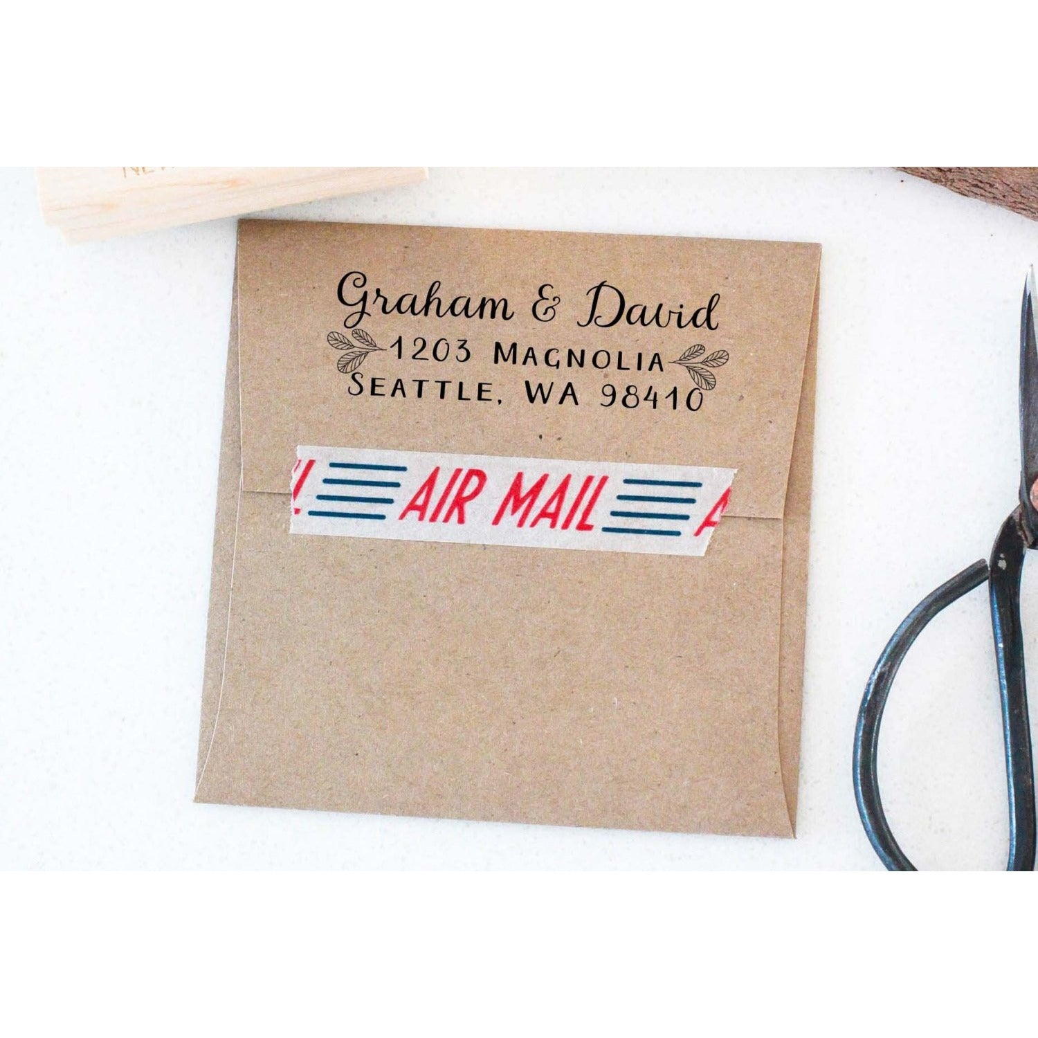 Calligraphy Address Stamp,