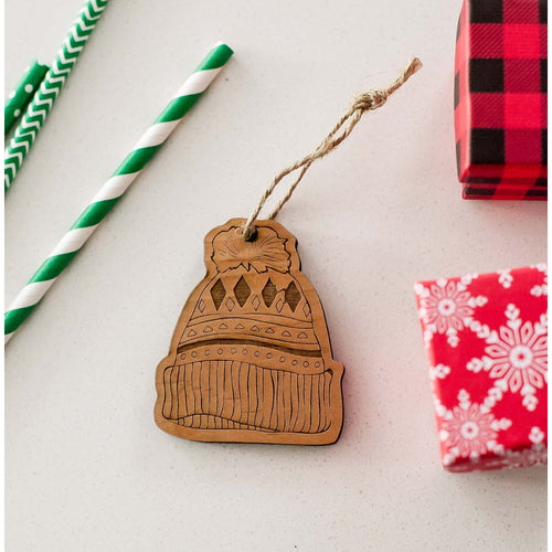 Wooden Toque Christmas Ornament