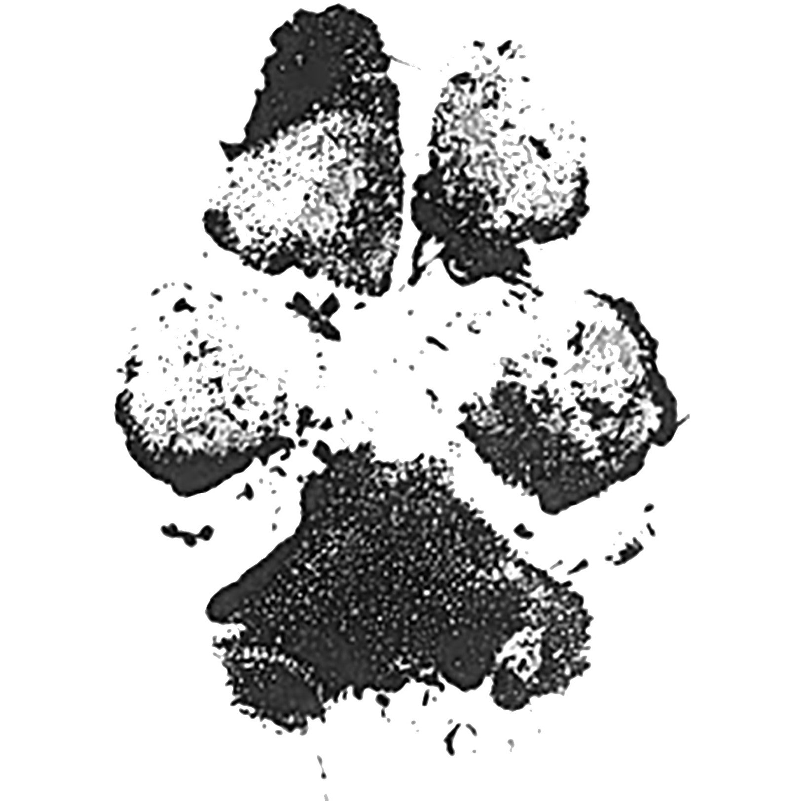 Custom Pet Paw Print Rubber Stamp