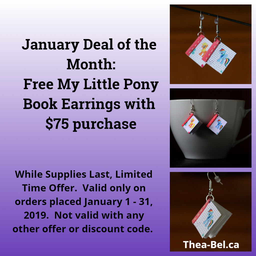 January Deal of the Month: Free Book Earrings