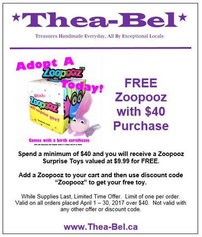 Free Zoopooz with $40 purchase