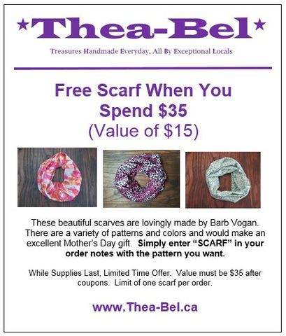 Free Scarf with $35 Purchase