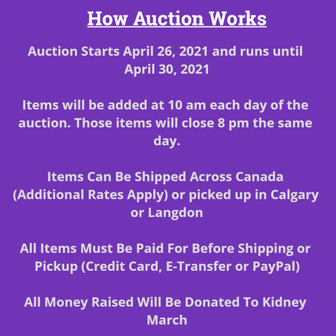 Silent Auction Rules
