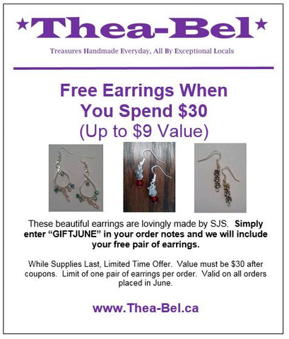 Free Earrings with $30 Purchase