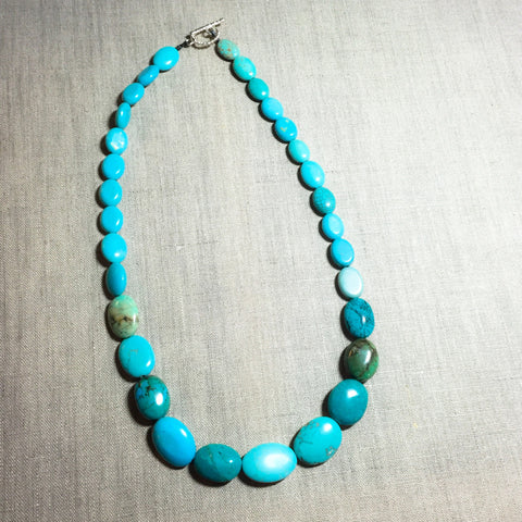 Turquoise Beaded Necklace - Last Chance