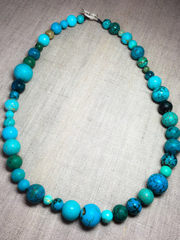 Round Beaded Turquoise Necklace - Last Chance