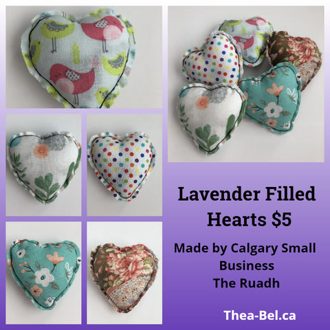 Cloth Heart with Dried Lavender